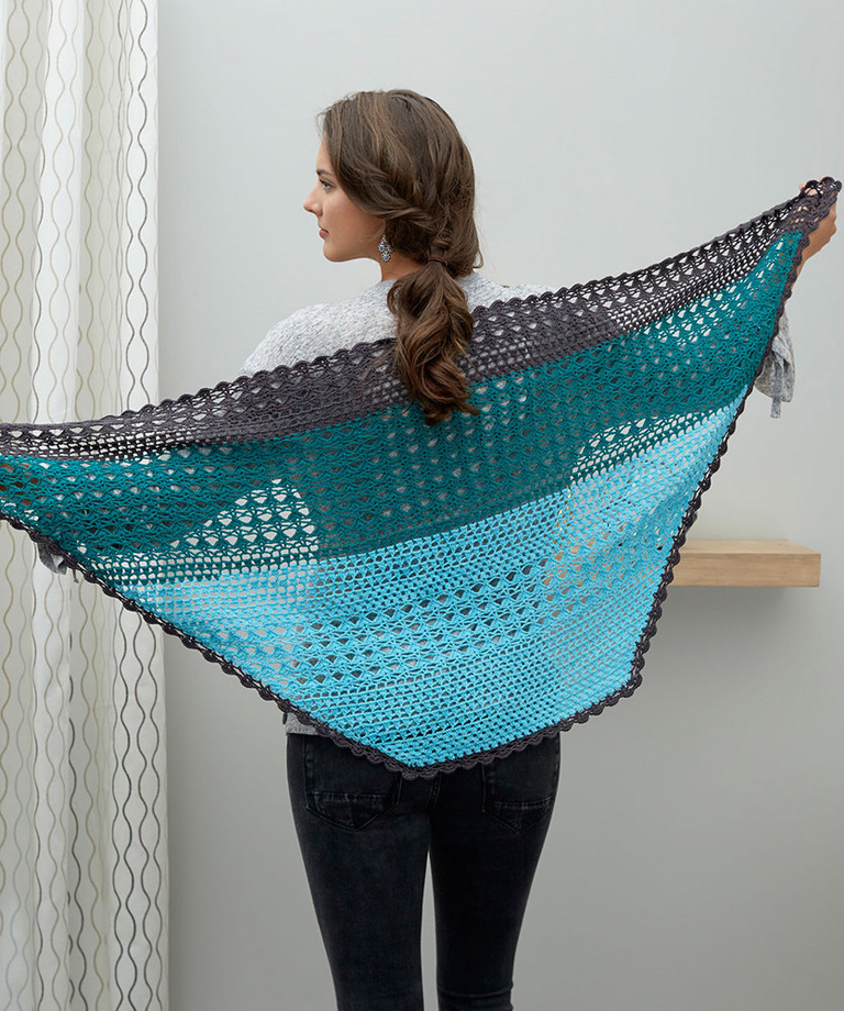 Changing Colors Shawl Free Pattern LW6210
