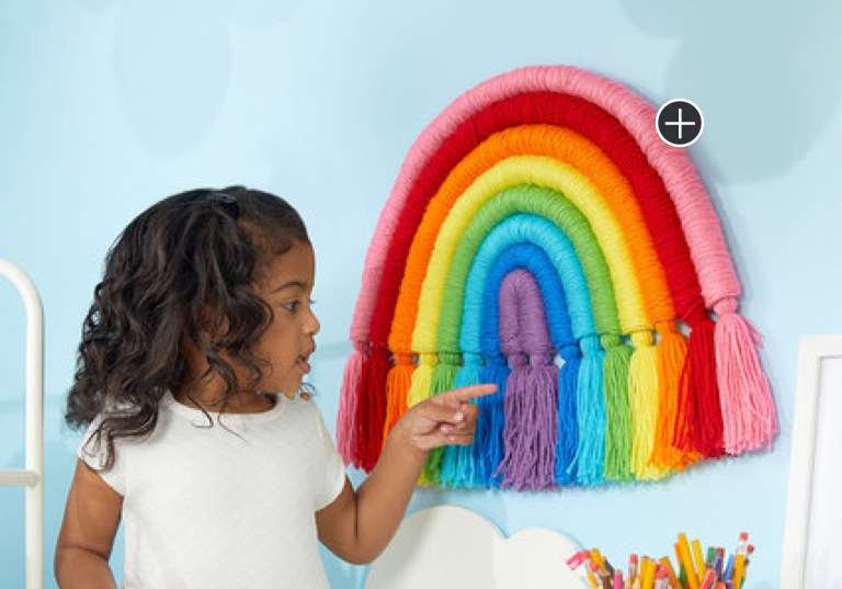 Intermediate Wrapped Rainbow Wall Art Craft
