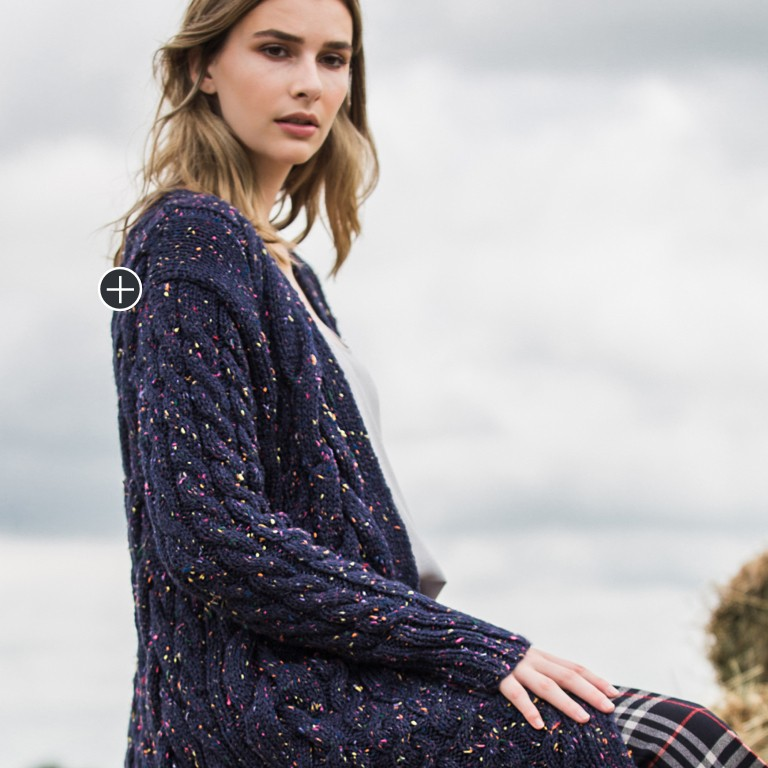 Intermediate Winding Ropes Knit Cable Cardigan