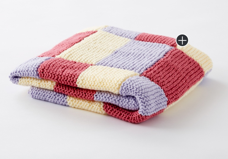 Beginner Baby Steps Knit Blanket