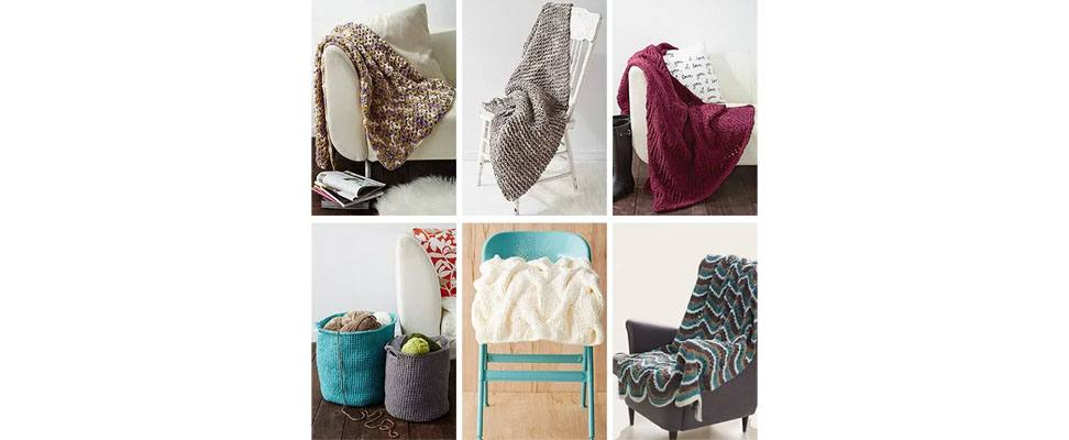 Bernat Blanket Free Crochet and Knit Patterns