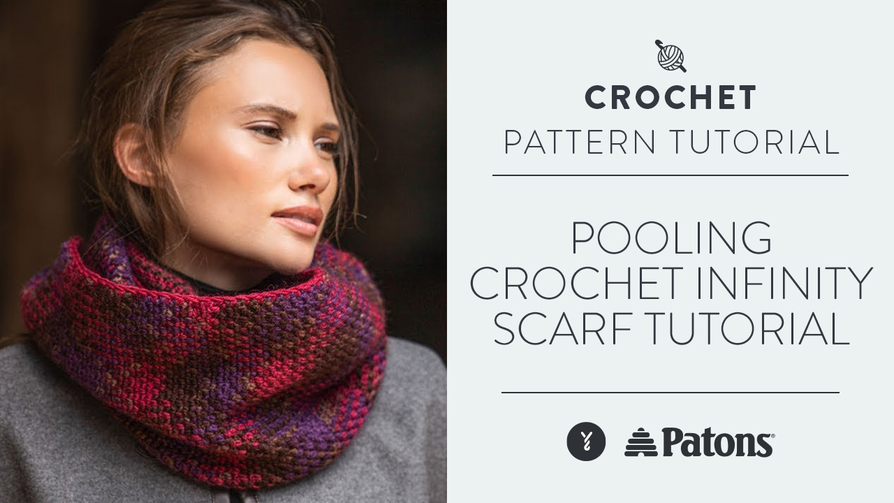 Pooling Crochet Infinity Scarf Tutorial