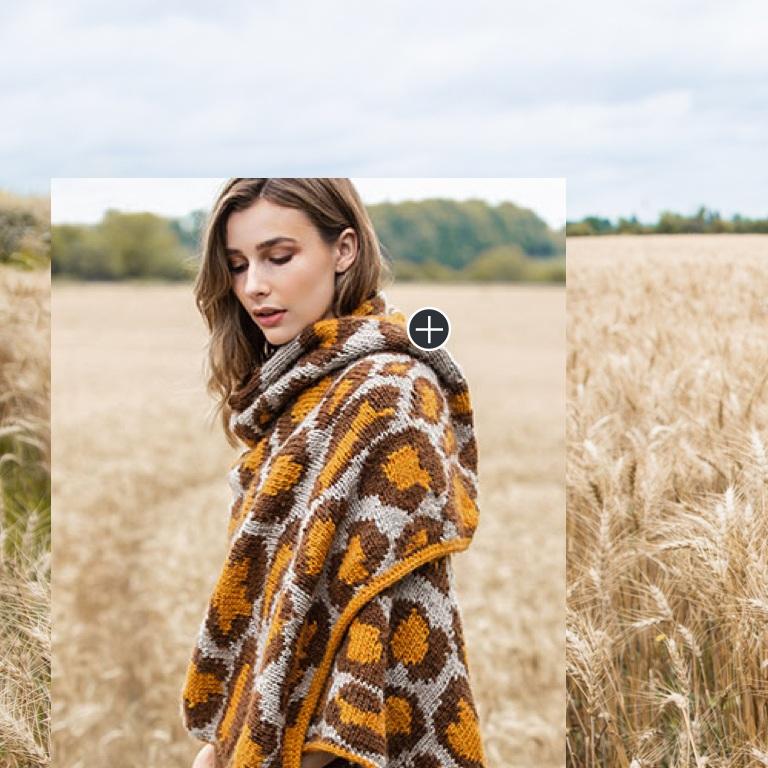 Intermediate Leopard Print Knit Wrap