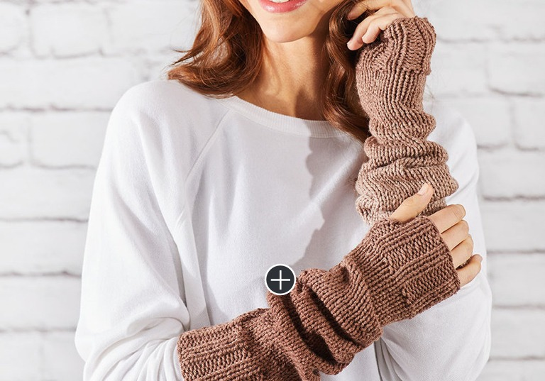 Easy Knit Ombre Arm Warmers