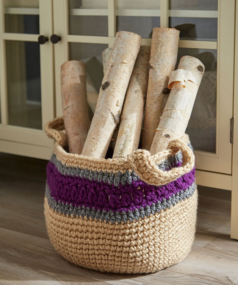 Handy Storage Basket Free Crochet Pattern LM6031