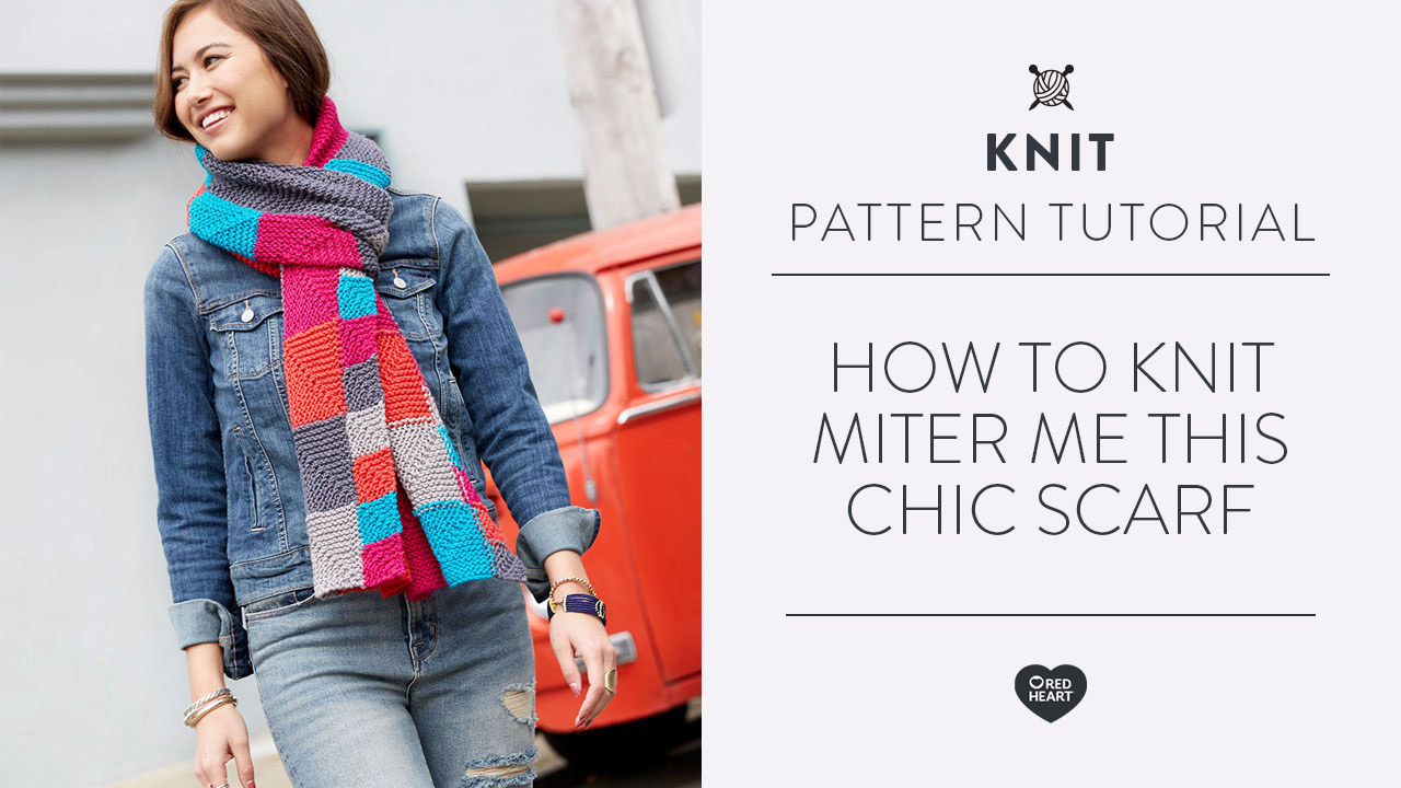 How to Knit Miter Me This Chic Scarf