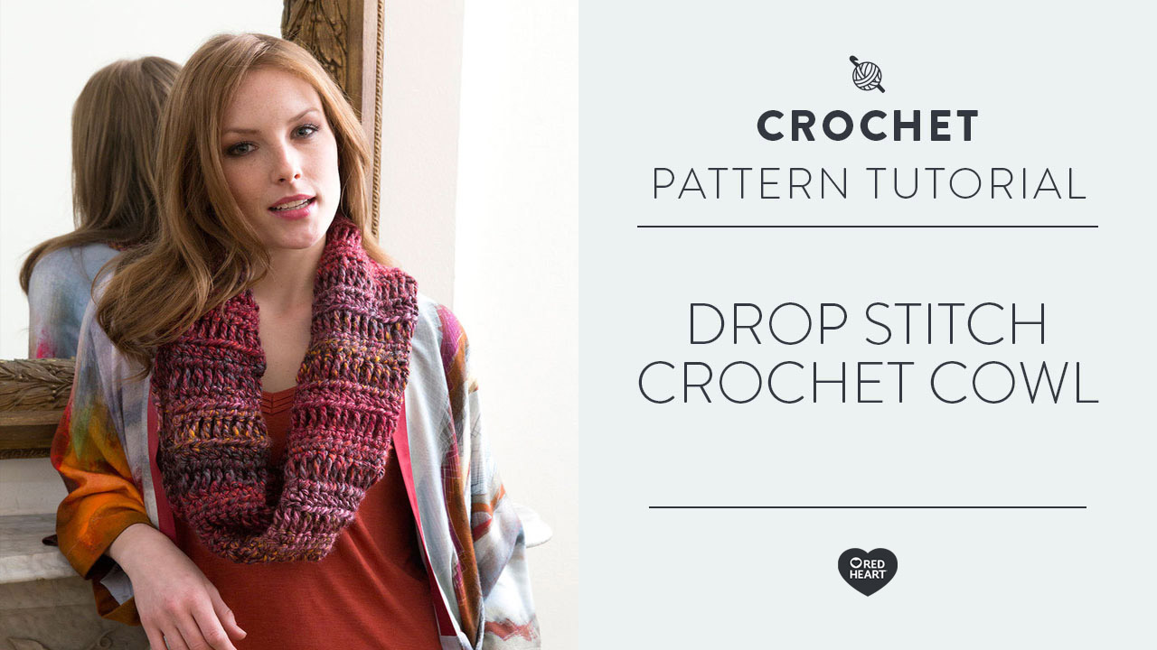 Drop Stitch Crochet Cowl