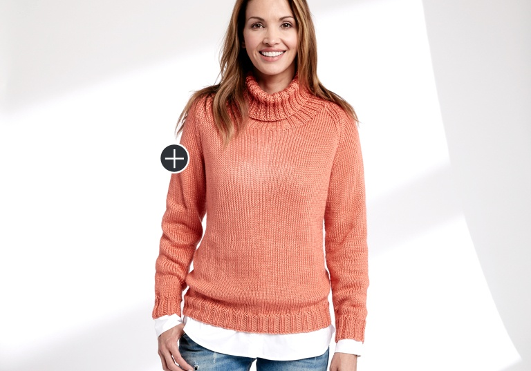 Easy Knit Turtleneck Pullover