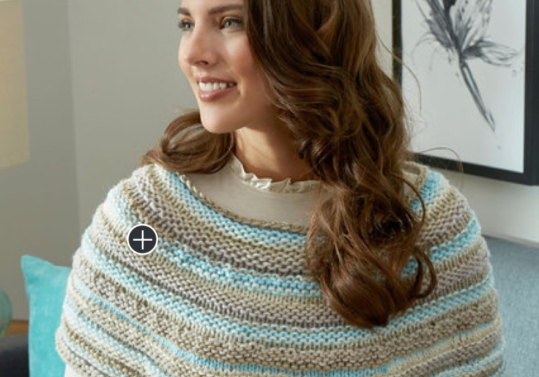 Beginner Cozy Shoulders Knit Poncho
