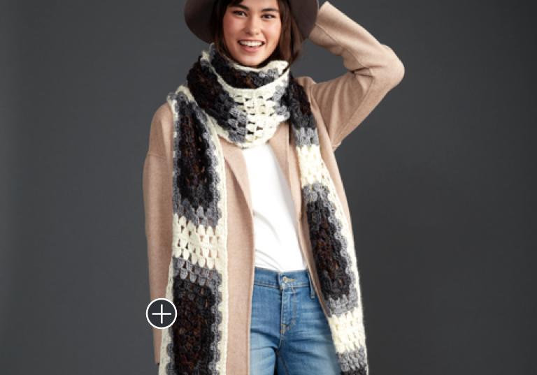 Easy Super Granny Crochet Super Scarf