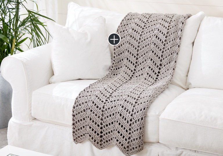 Easy Ripples In The Sand Crochet Afghan