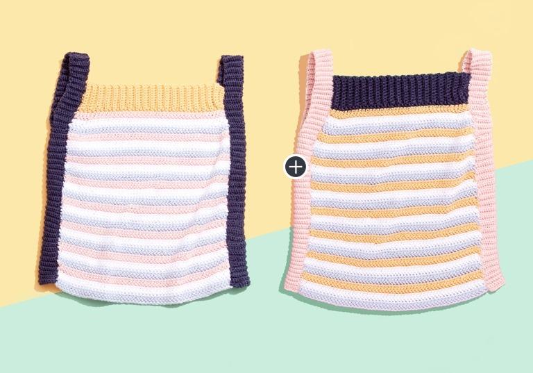 Caron x Pantone Bamboo Crochet Sporty Tank Top