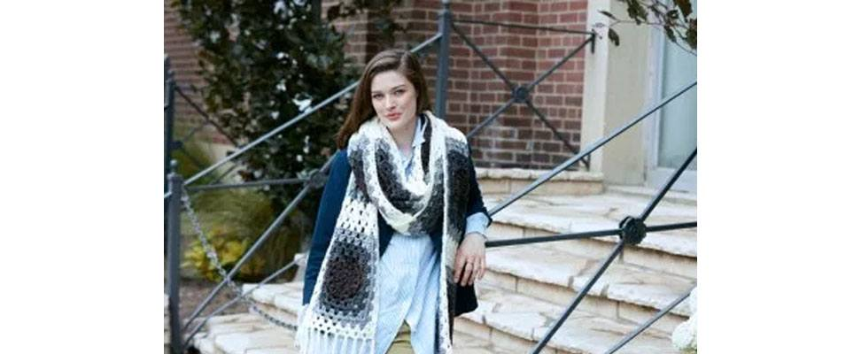 Super Granny Crochet Super Scarf in Caron Simply Soft yarn