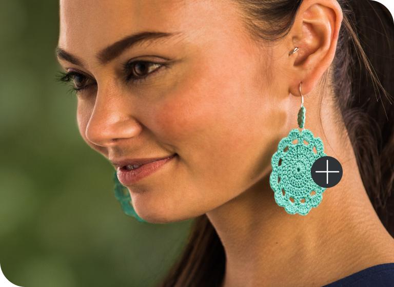 Aunt Lydia's Petal Pop Crochet Earrings