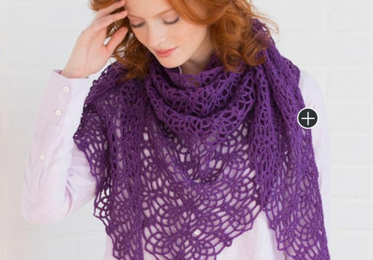 Intermediate Lacy Pineapple Crochet Shawl