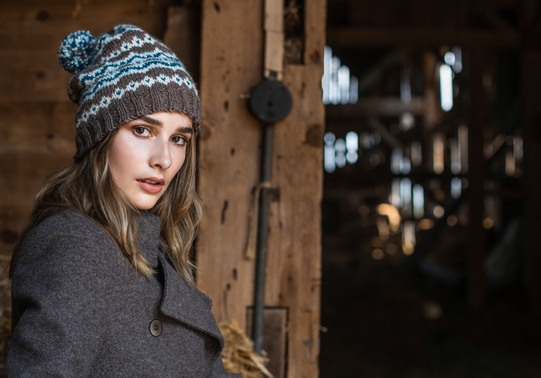 Intermediate Frosted Fair Isle Knit Hat