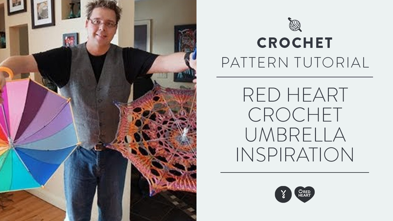 Red Heart Crochet Umbrella Inspiration