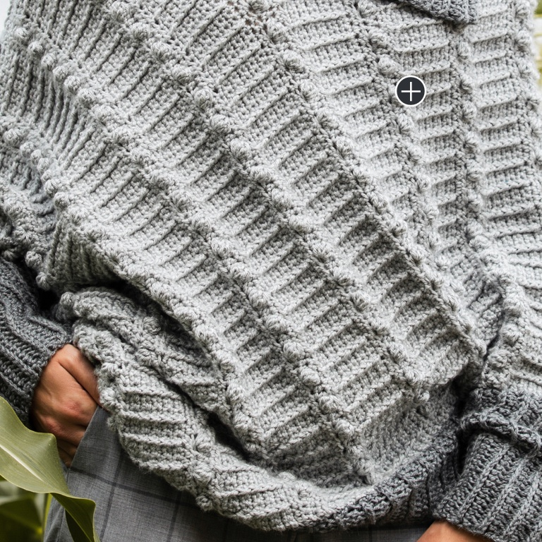 Intermediate Asymmetrical Crochet Cape-Cho