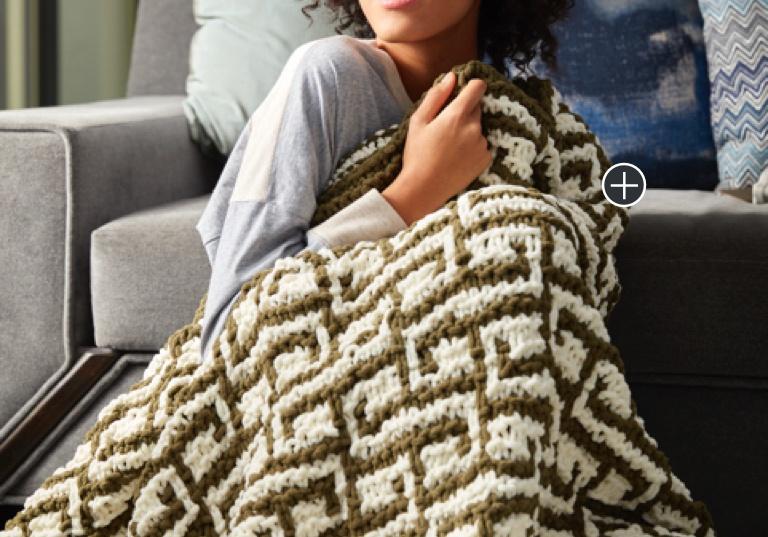 Intermediate Let It Slip Knit Blanket