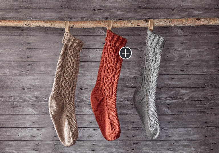 Intermediate Sugar Twist Knit Stocking