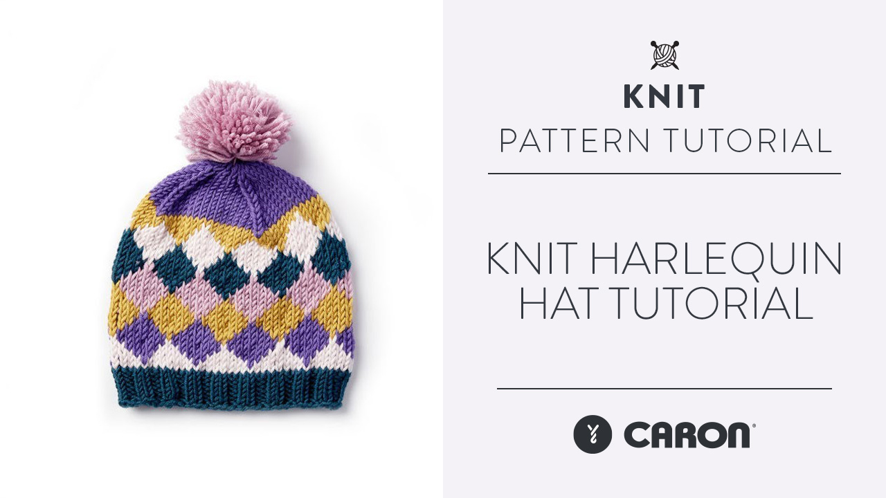 Knit Harlequin Hat Tutorial