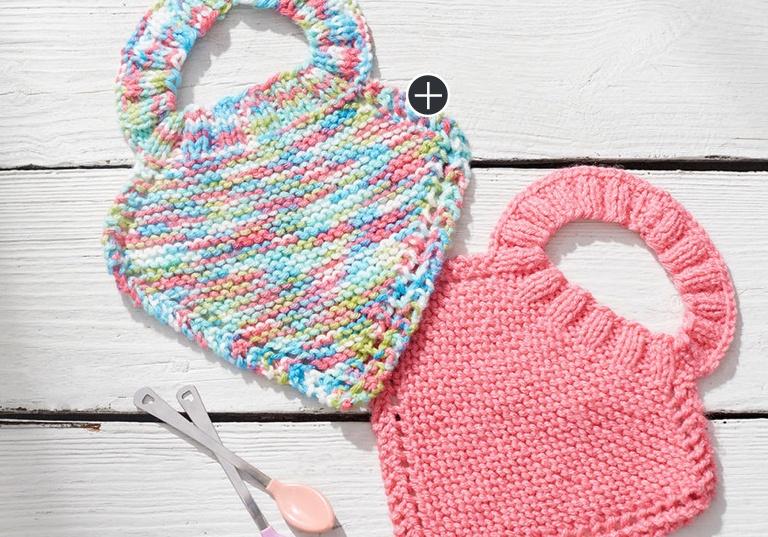 Easy Knit Baby Bibs