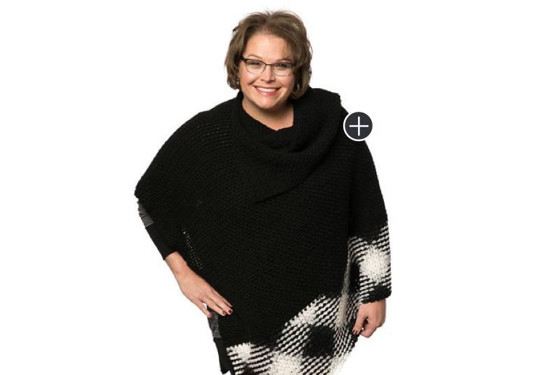 Easy Crochet Argyle Poncho