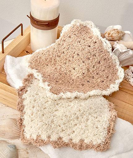 Scalloped Edge Washcloth Free Crochet Pattern LW5574