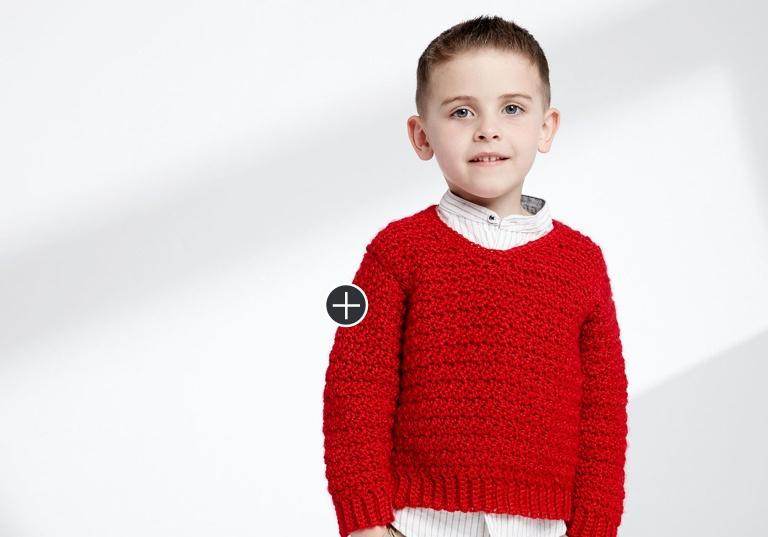 Easy Crochet V-Neck Pullover