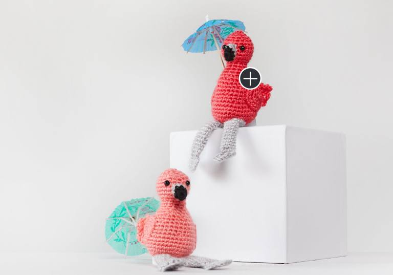 Easy Fiona and Fred Crochet Flamingo