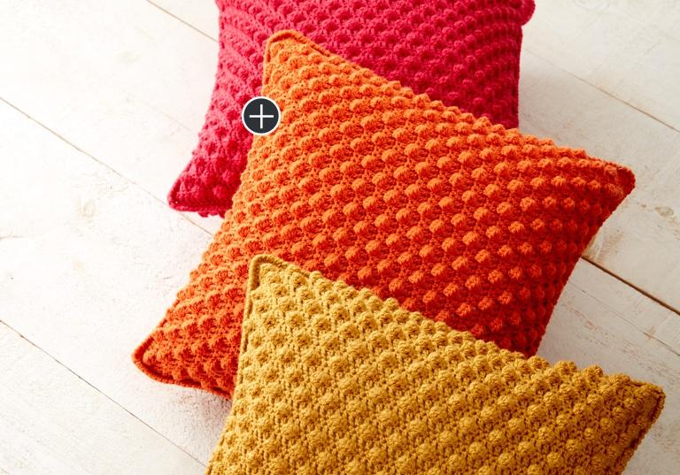 Easy Bobble-Licious Pillow