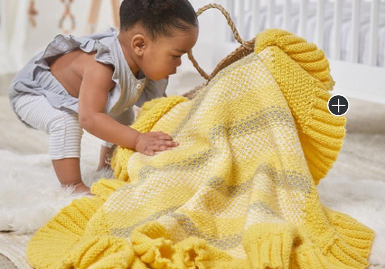 Experienced Sunnyside Up Knit Blanket