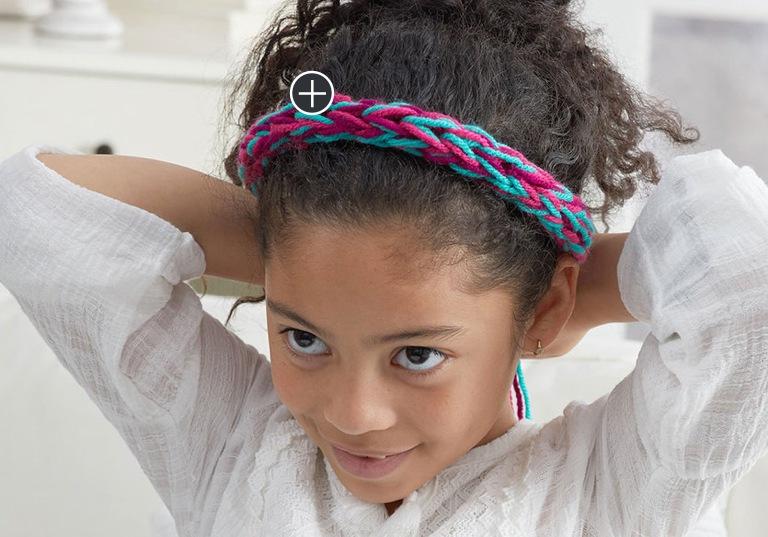 Beginner Finger Knit Headband