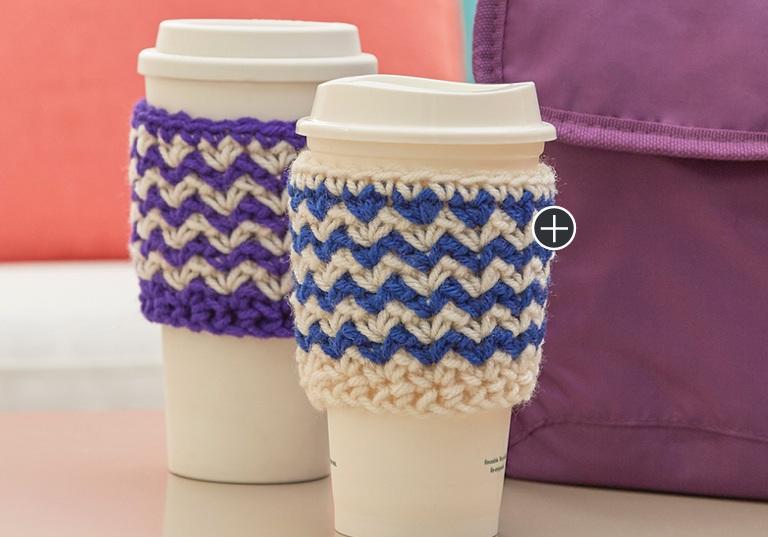 Easy Zigzag Crochet Cup Cozy