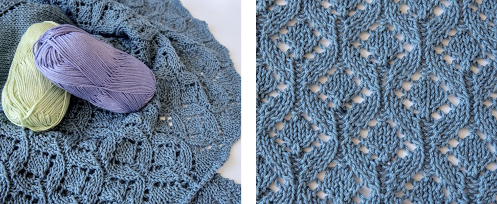 Pastoral Lace Knit Shawl's lace knitting motif