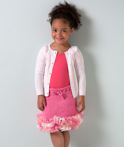 LW4398 Girl's ruffled Skirt