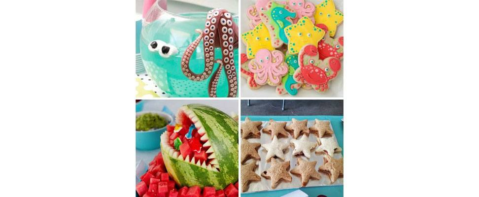 Beach Party Themed Food
