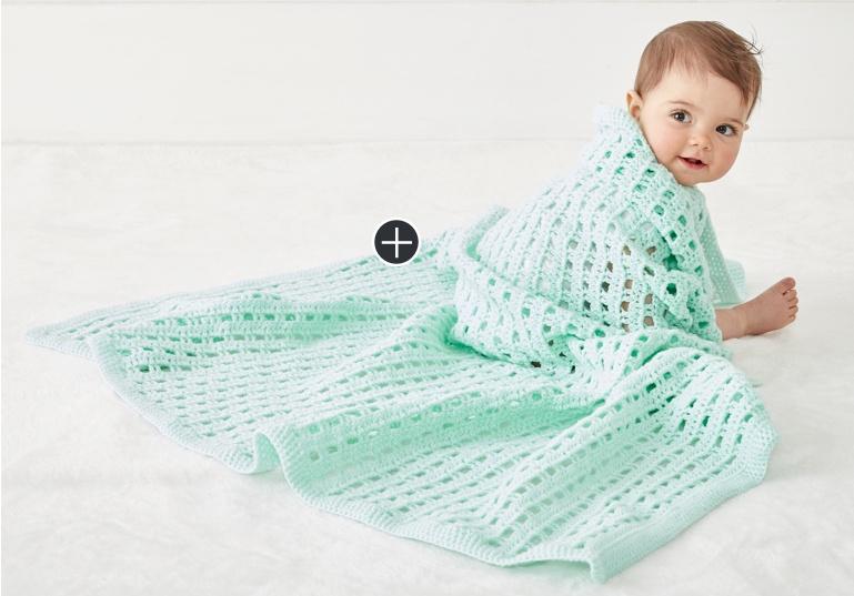 Easy Crochet Happy Baby Blanket