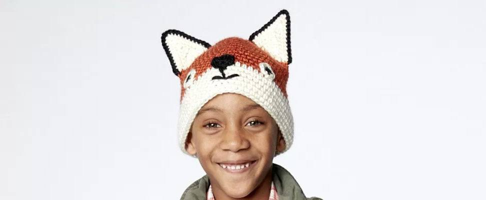 Fox Hat in size 6-8 years