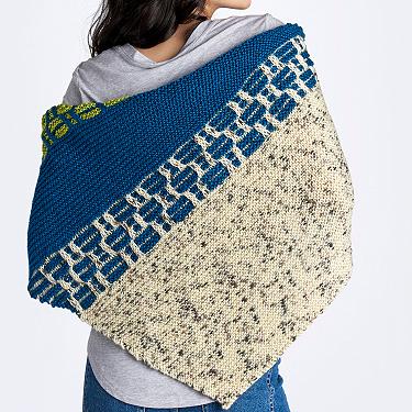 Caron sampler wedges knit shawl