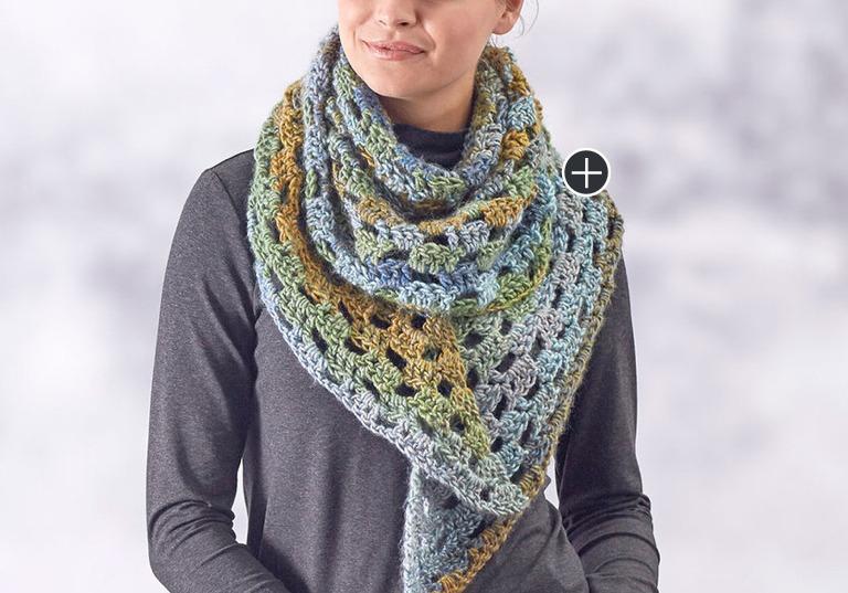 Beginner Relax & Unwind Crochet Shawl