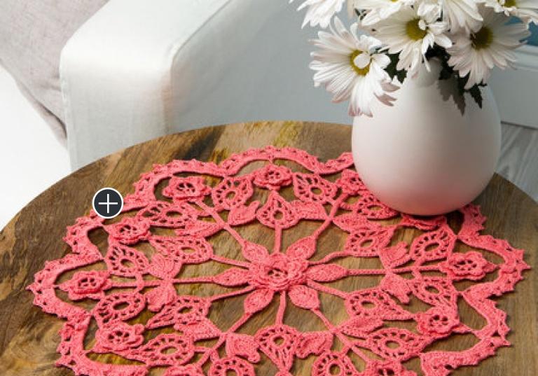 Intermediate Exquisite Crochet Flower Doily