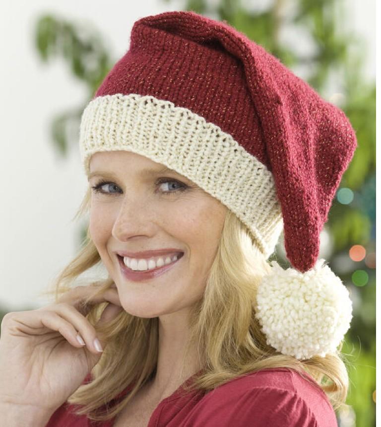 free pattern knit santa hat