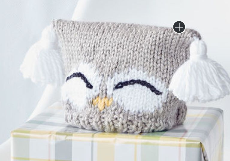 Intermediate I'm A Hoot! Knit Hat