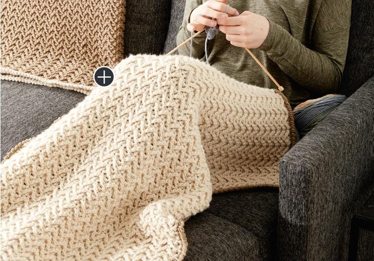 Easy Crochet Texture Lap Blanket
