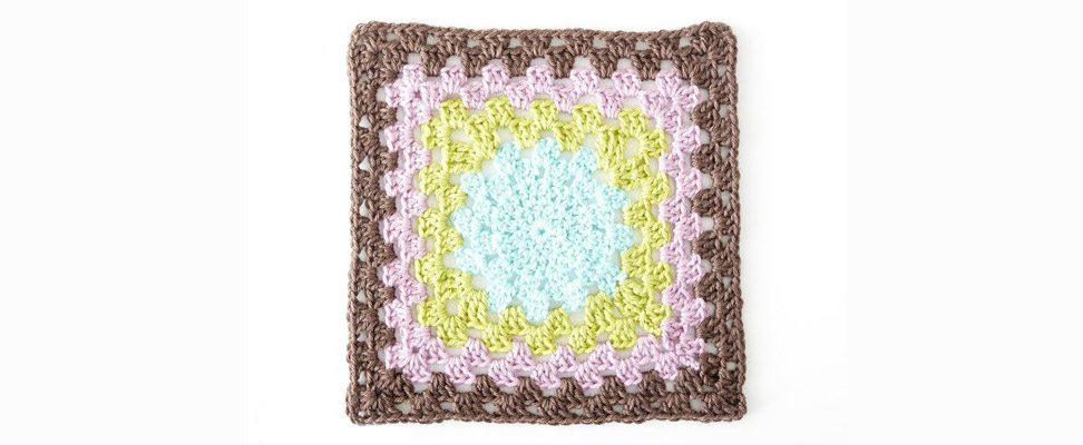 Pop of Color Granny Square
