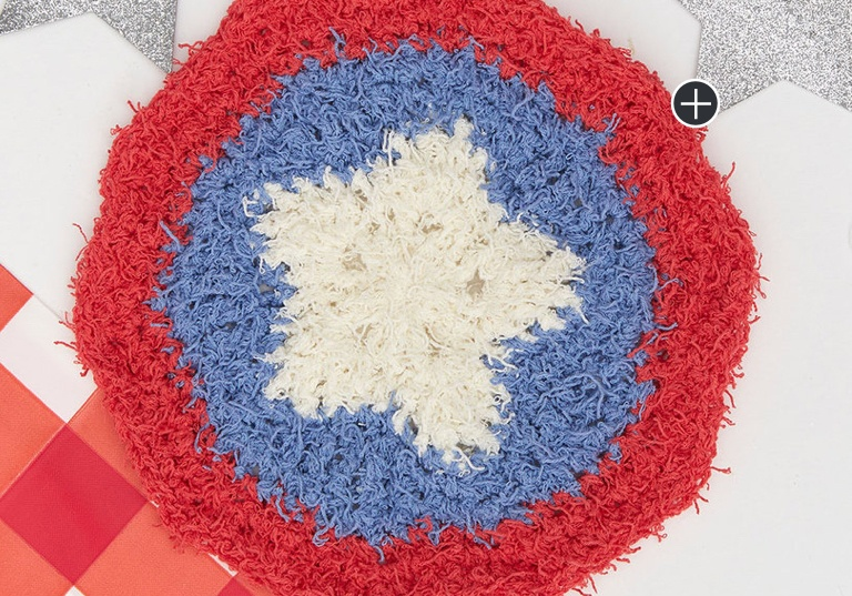 Easy Patriotic Crochet Washcloth