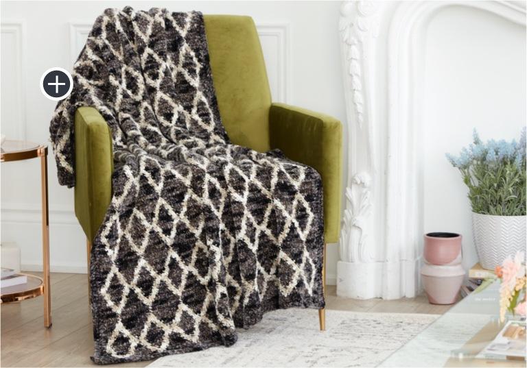 Intermediate Trellis Crochet Blanket