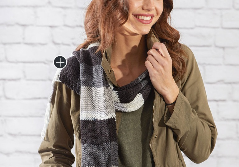 Easy Stripes Knit Scarf