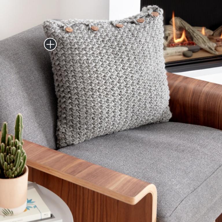Beginner Crochet Crunch Stitch Pillow